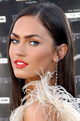 Megan fox red lipstick