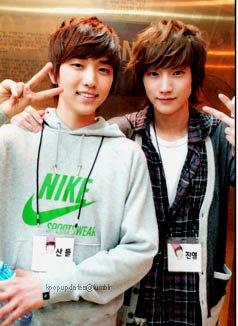 Jinyoung   Sandeul  B1a4 Sandeul And Jinyoung