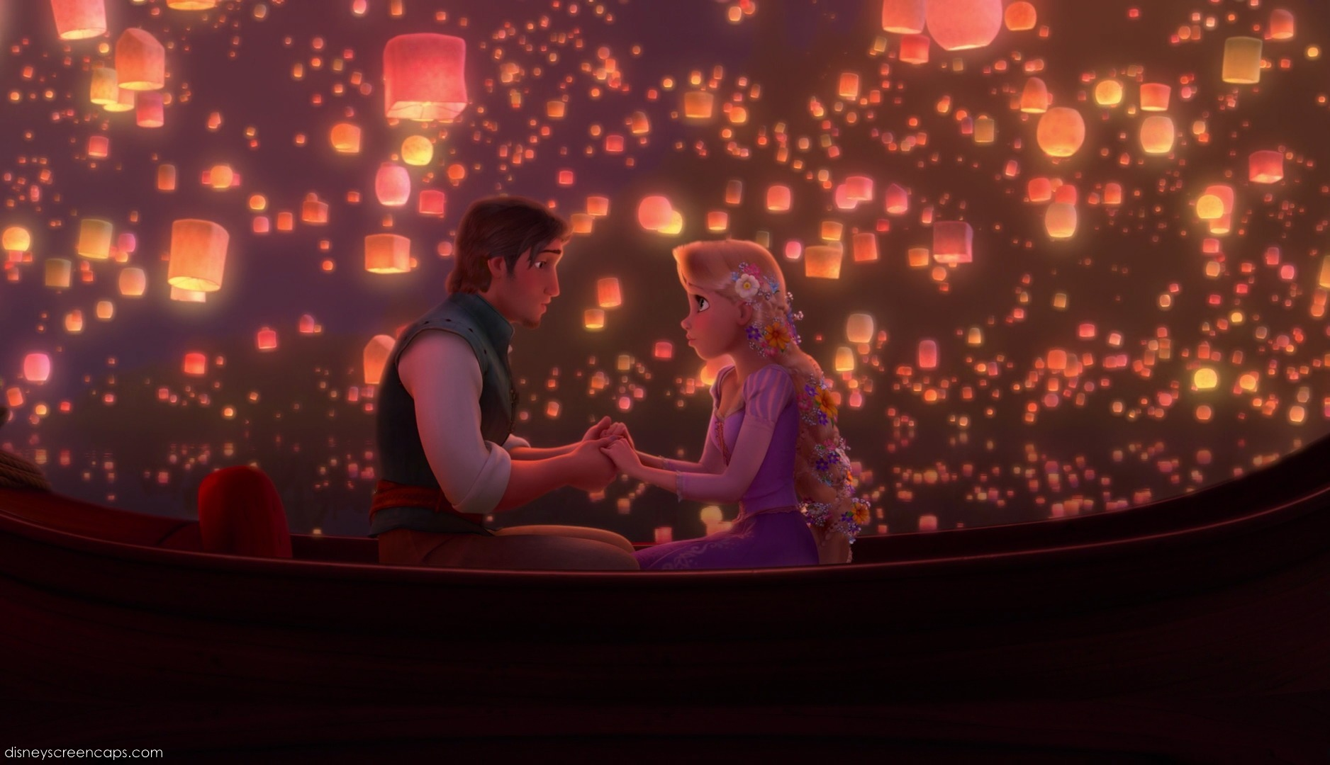 Tangled Wallpapers Boat Scene Main