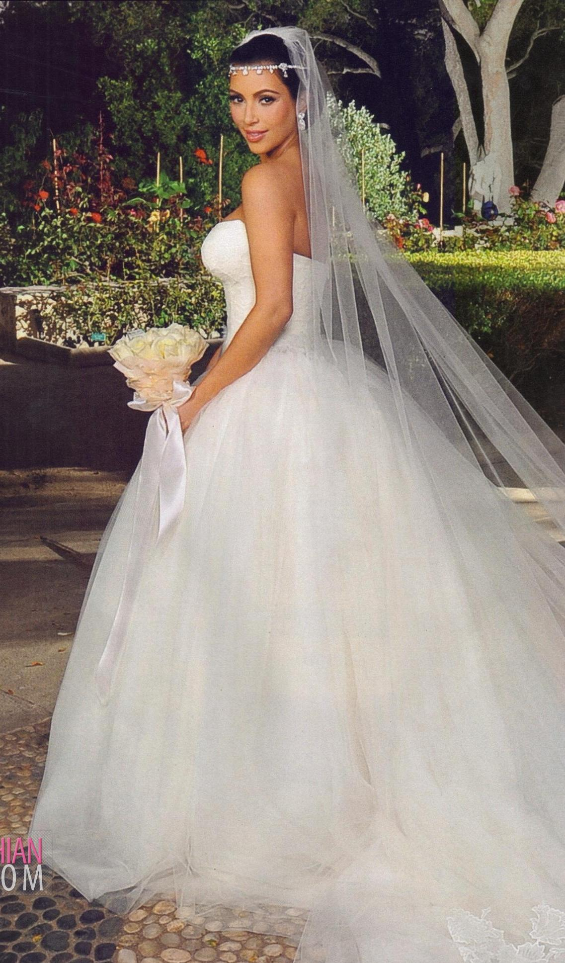 The most beautiful of kim 39 s three vera wang wedding for Vera wang princess ball gown wedding dress