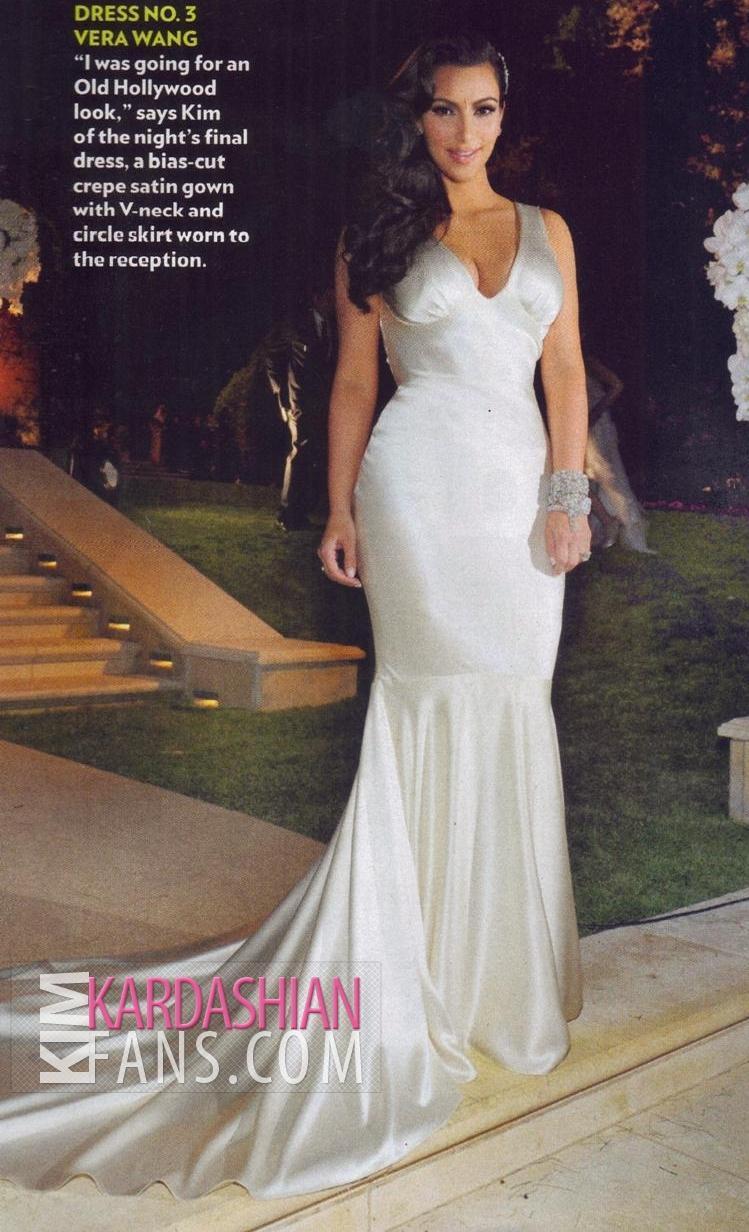 The most beautiful of Kim\'s three Vera Wang wedding dresses? - Kim ...