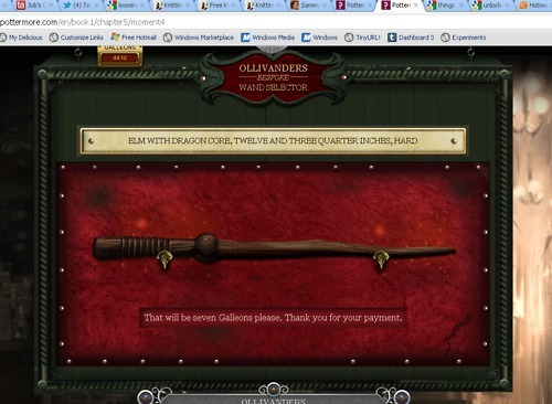 What 39 s your wand in pottermore made of poll results for Harry potter elm wand