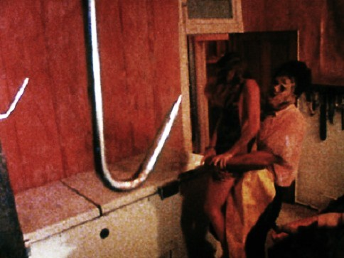 "In ""The Texas Chainsaw Massacre"" (1974) when does the woman get put on a hook ?"
