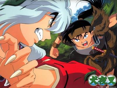 Koga had once broken Inuyasha's arm?