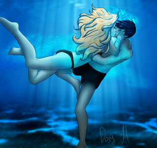 "On which page of the Last Olympian did Percy and Annabeth share their ""Best underwater kiss of all time"""