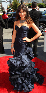 Who designed Lea's emmy dress 2010?