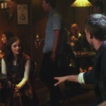 Who is this guy Aria met at the bar?