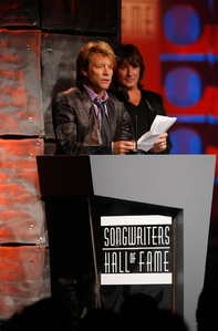 In what year were Jon and Richie inducted into The Somgwriters&#39; Hall of Fame?