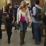 In 1x08, Hanna invited Aria for a double date. Who were the the girls date's?