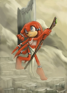 In Fleetway Sonic comics, who was born in Tikal's time? (the fotografia below is not Tikal nor is it por me. i just put it there because it's very tribal)