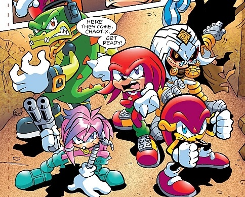 In what issue of Sonic Universe does Knuckles team up with Dr.Finitevus?