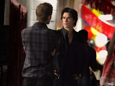 Damon meets and finds out the name of Bonnie's potential bf in 2x02