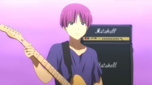 (S2)In EP12, what was the name of the band with the left-handed guitarist? At what stage did he play?
