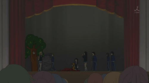 (S2)In the Romeo & Juliet episode (EP19), one of HTT's 3-2 classmates helps Mugi carry the Rosetta Stone to the auditorium. What was her name?