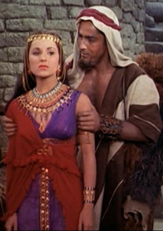 who is this woman with john derek in the ten commandments ?
