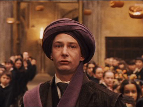 What did the students of Hogwarts think was stuffed in the turban of Prof. Quirrel?