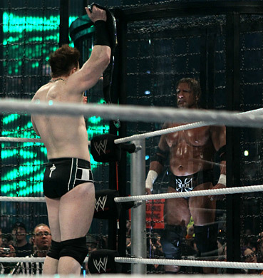 True o False : Sheamus lost the wwe Championship at the Elimination Chamber .