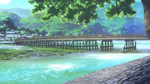 (S2)In EP04, the girls stop in Arashiyama on their class trip. What is the name of the bridge they cross?