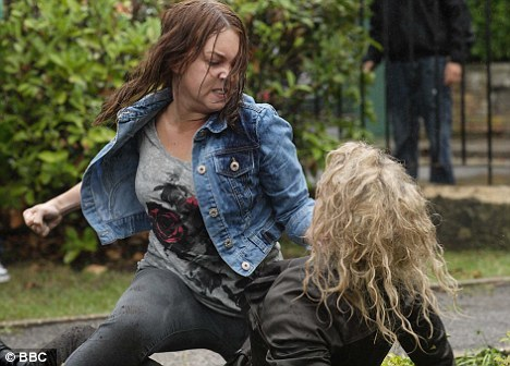 What did stacey say when she punched Janine?
