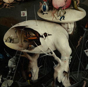 In what year did Hieronymus Bosch paint The Garden of Earthly Delights?