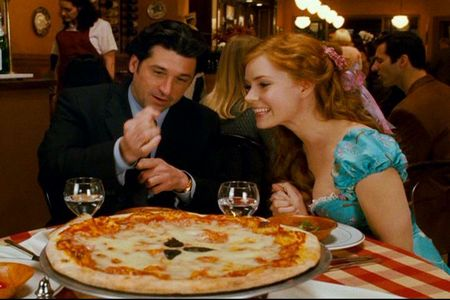 What disney reference was used when Giselle & Robert were at the restaurant?