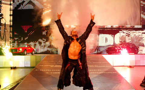 The real name of his entrance them song is .......?