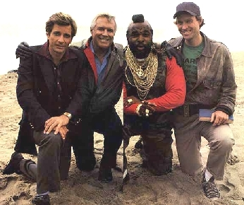 Which member of the A-Team got shot in the last ever episode?