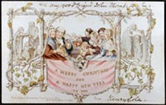 The first commercial Christmas card is generally agreed to have been the one shown below. The card had a hostile reception from some people. Why?