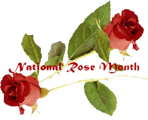 When is national rose month in the USA ?