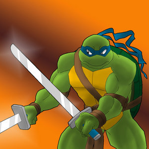 Which turtle wears a blue mask?