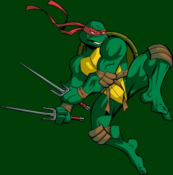 What weapon does Raphael use?