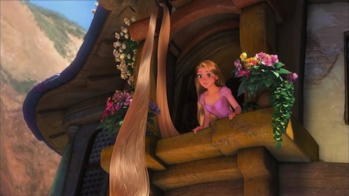 which one is not what Rapunzel do when she is grounded?