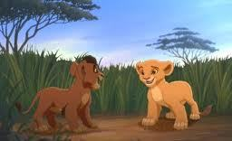 What is the 1st thing that Kovu says to Kiara?