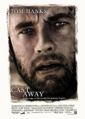 "In ""Cast Away"" what is the name of the woman with whom he lives ?"