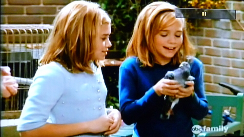 "In ""Two of a Kind"" what was Mary-kate's pidgeon called ?"
