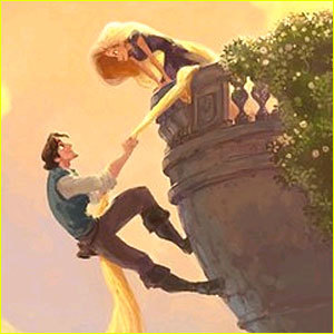 in tangled-- rapunzel has long hair. how many feet long hair ?