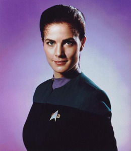 "How many episodes of ""Deep Weltraum Nine"" did Jadzia Dax appear in?"