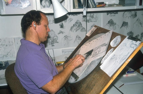 What does Glen Keane keep on his desk from Beauty and the Beast?