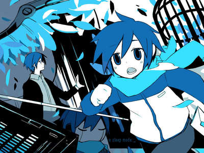 TRUE au FALSE: The song Imitator is an original song of KAITO.