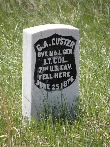 where is the george armstrong custer burial site ?