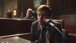 In episode 1x02 Crocodile,Dexter is testifying in court, how many cases does he say he has worked?