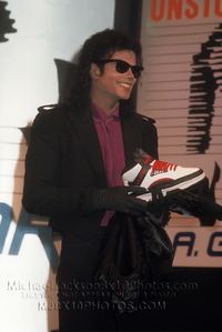 Which shoe company did Michael 広告 for?