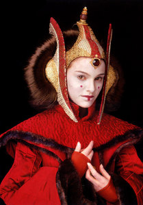 Which country was Padmé's Red Invasion gown inspired from?