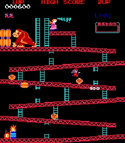 What year was Donkey Kong Arcade released?