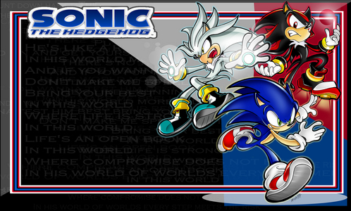 What is the relationship between Sonic, Shadow, and Silver?