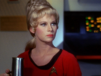 How many episodes of TOS did she appear in?