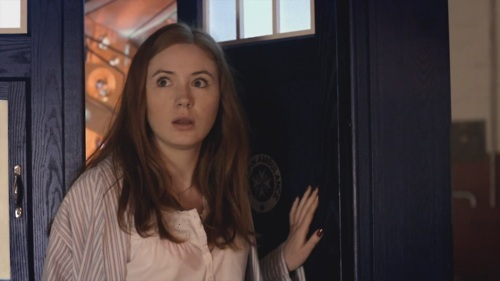 T/F: This is the first time Amy stepped out of the TARDIS