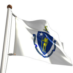 massachusetts -- state flag adopted what año ?