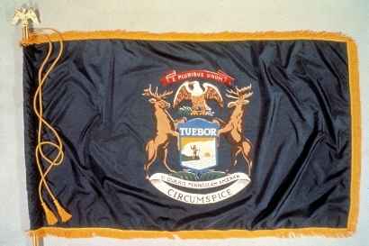 michigan -- state flag adopted what year ?