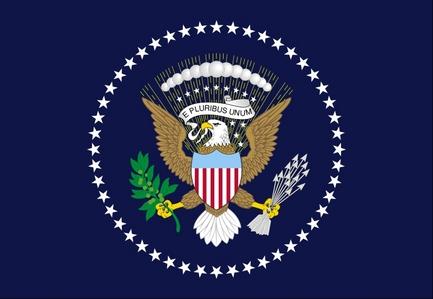 u.s. president flag adopted what tahun ?